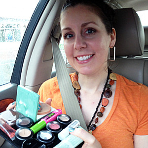 Beauty Butler helps you apply makeup in the car