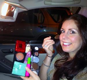 traveling makeup station