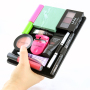 Hold Organized Makeup in your hand Black Beauty Butler Diva goes inside binder