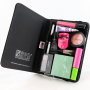 organized makeup in black beauty butler binder